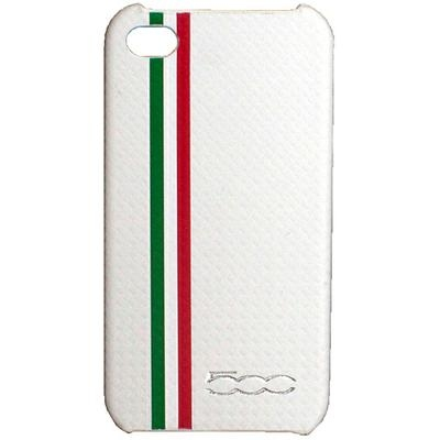 FIAT 500 Carbon stripes back cover for iPhone 4 - 1