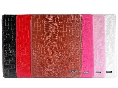HOCO Crocodile bracket leather case for iPad 2/3/4, black - 1