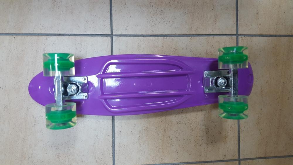 Скейт Penny Board Original Fish фиолетовый-светящиеся - 2
