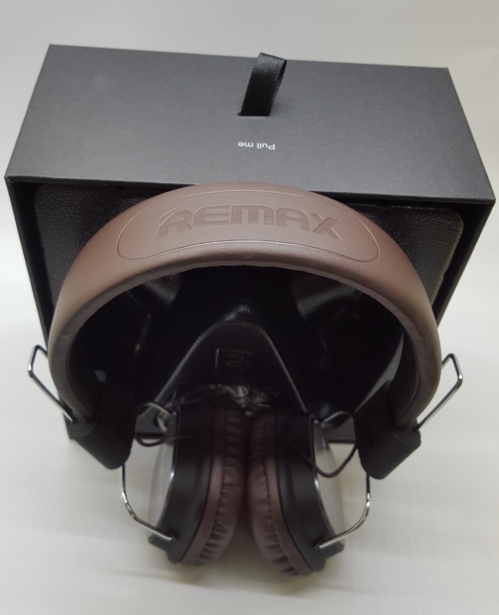 Наушники Гарнитура REMAX RM-100H с микрофоном+пульт управления для контента - 4