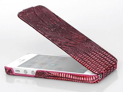 Borofone Lizard flip leather case for iPhone 5 - 4