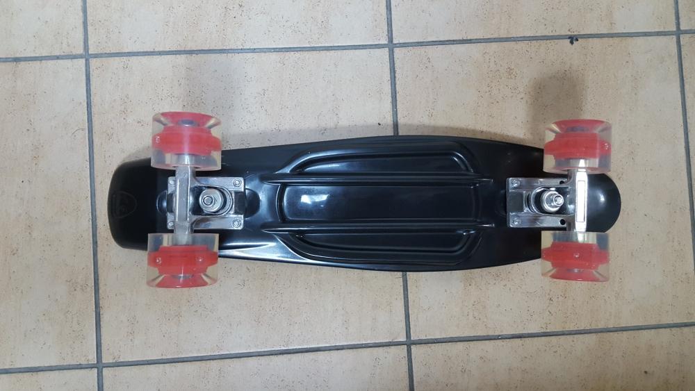 Скейт Penny Board Original Fish черный-светящиеся - 2