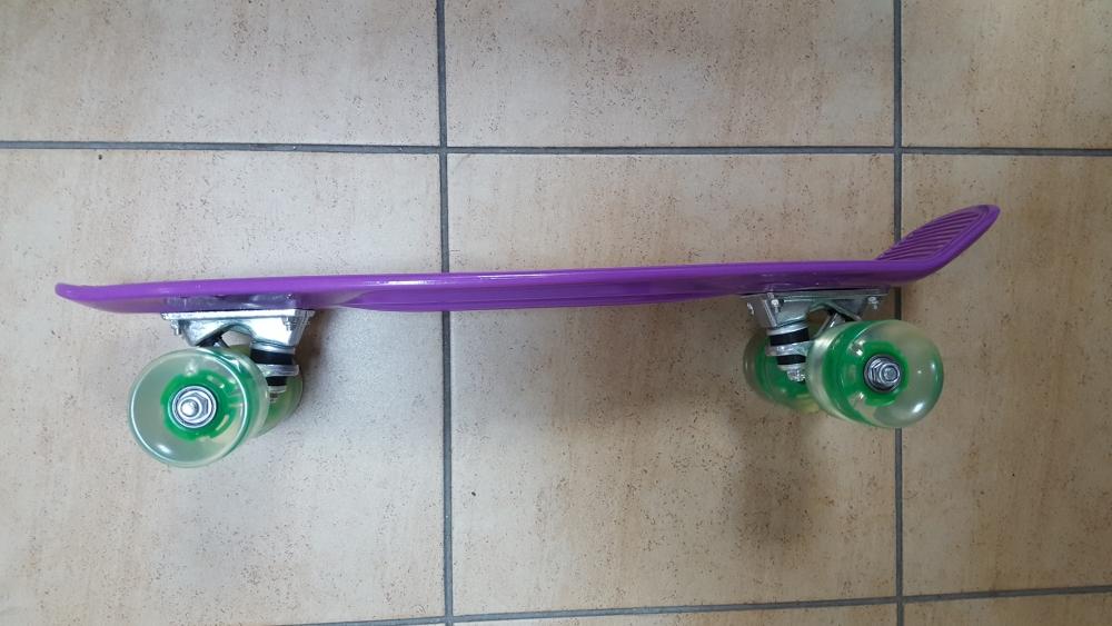 Скейт Penny Board Original Fish фиолетовый-светящиеся - 1
