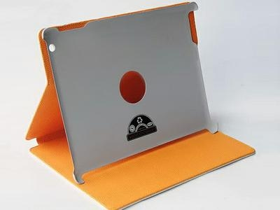 HOCO Crocodile bracket leather case for iPad 2/3/4, black