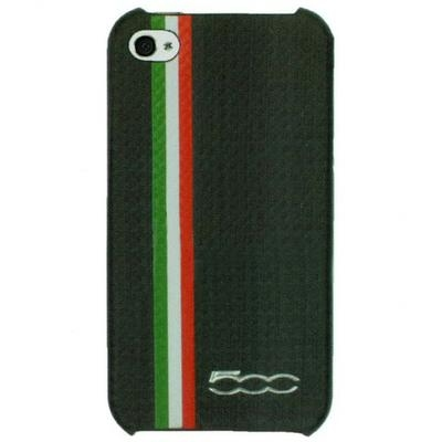 FIAT 500 Carbon stripes back cover for iPhone 4