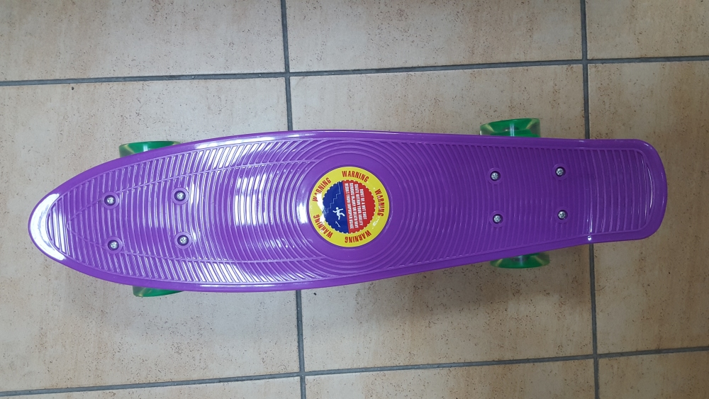 Скейт Penny Board Original Fish фиолетовый-светящиеся