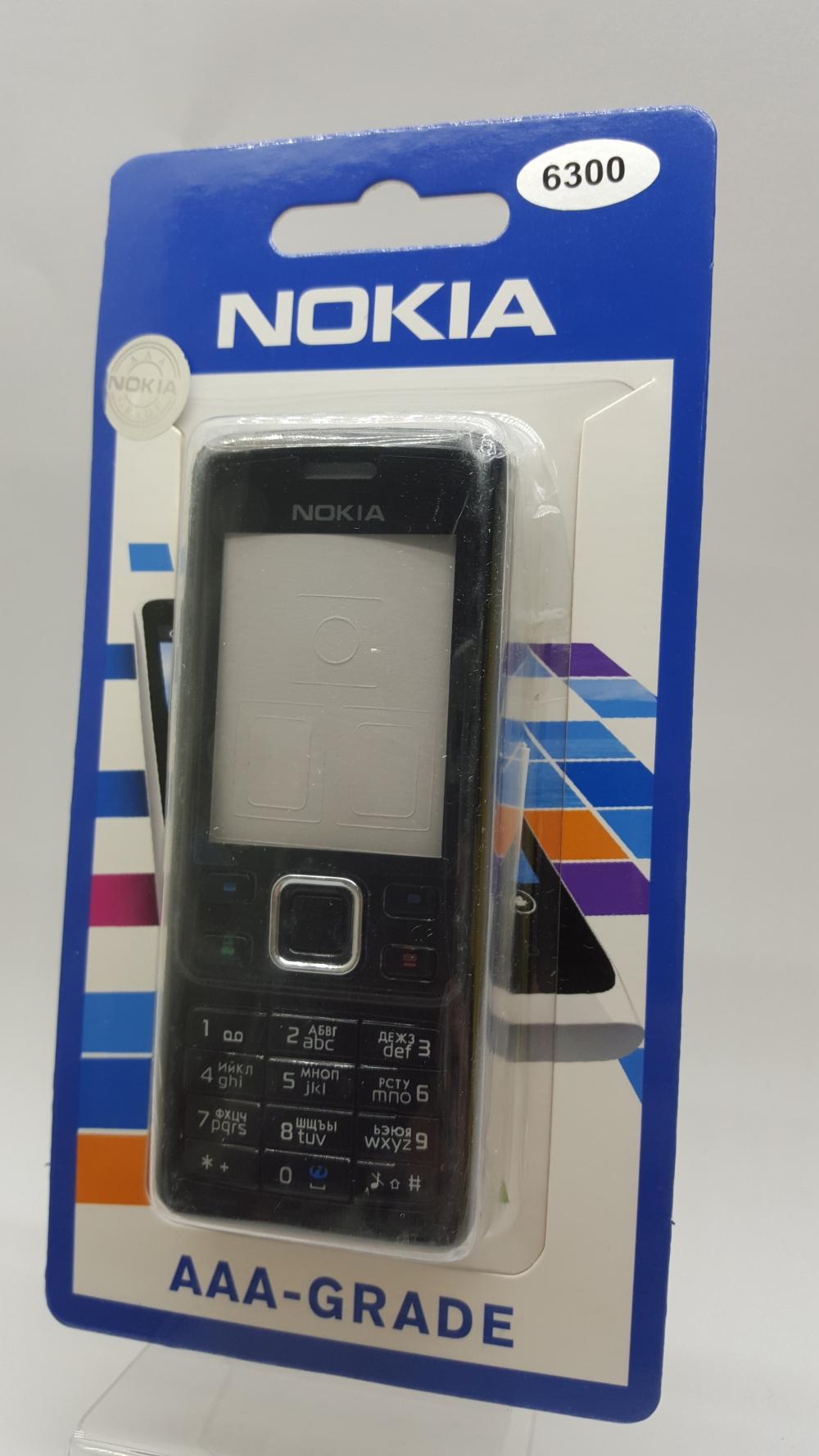 Корпус Nokia 6300 black - черный
