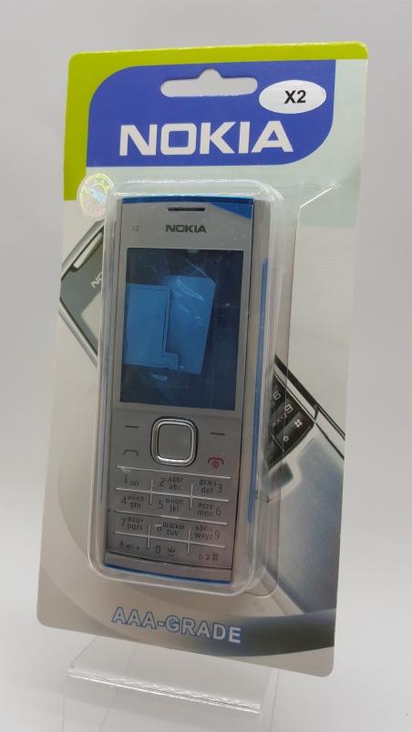 Корпус Nokia X2 silver - серый