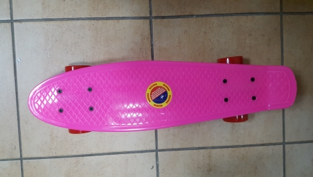 Скейт Penny Board Original Fish розовый