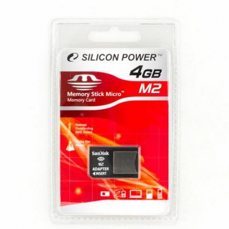 Карта памяти Silicon Power 4 Gb MS Micro M2