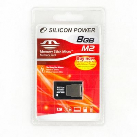 Карта памяти Silicon Power 8 Gb MS Micro M2