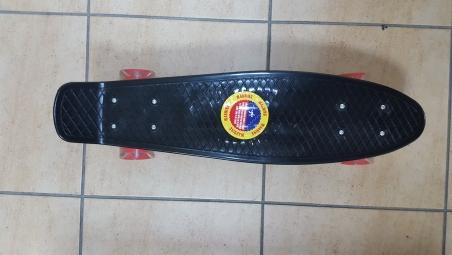 Скейт Penny Board Original Fish черный-светящиеся