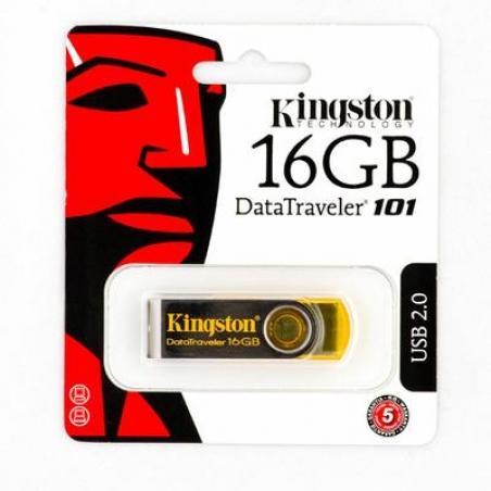 USB Flash Kingston DataTraveler 101, Yellow 16GB