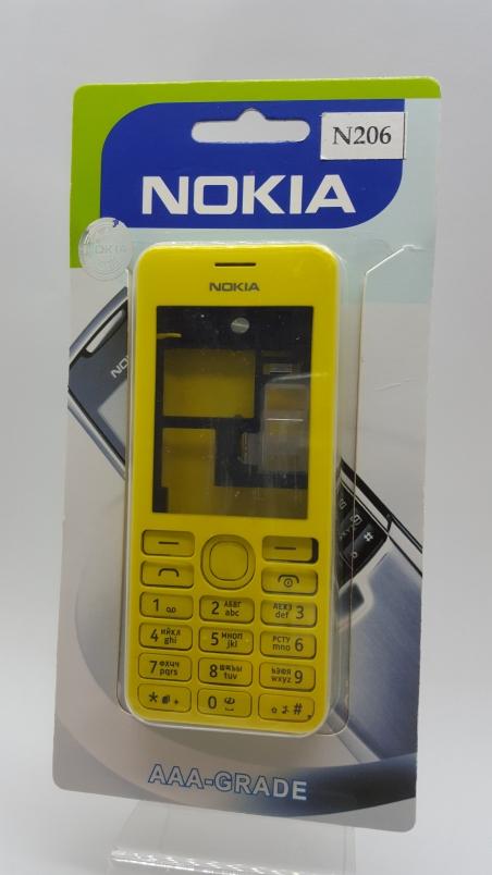 Корпус Nokia 206 yellow - желтый